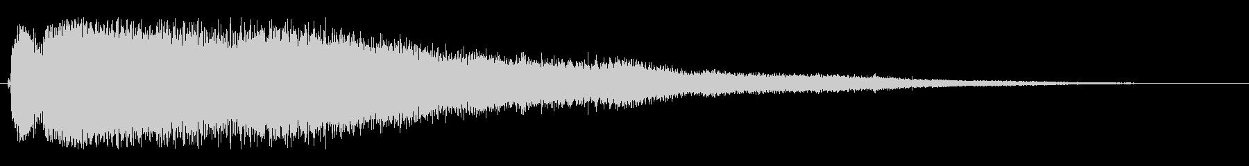 シャララ(細かい透明感のある効果音)の未再生の波形