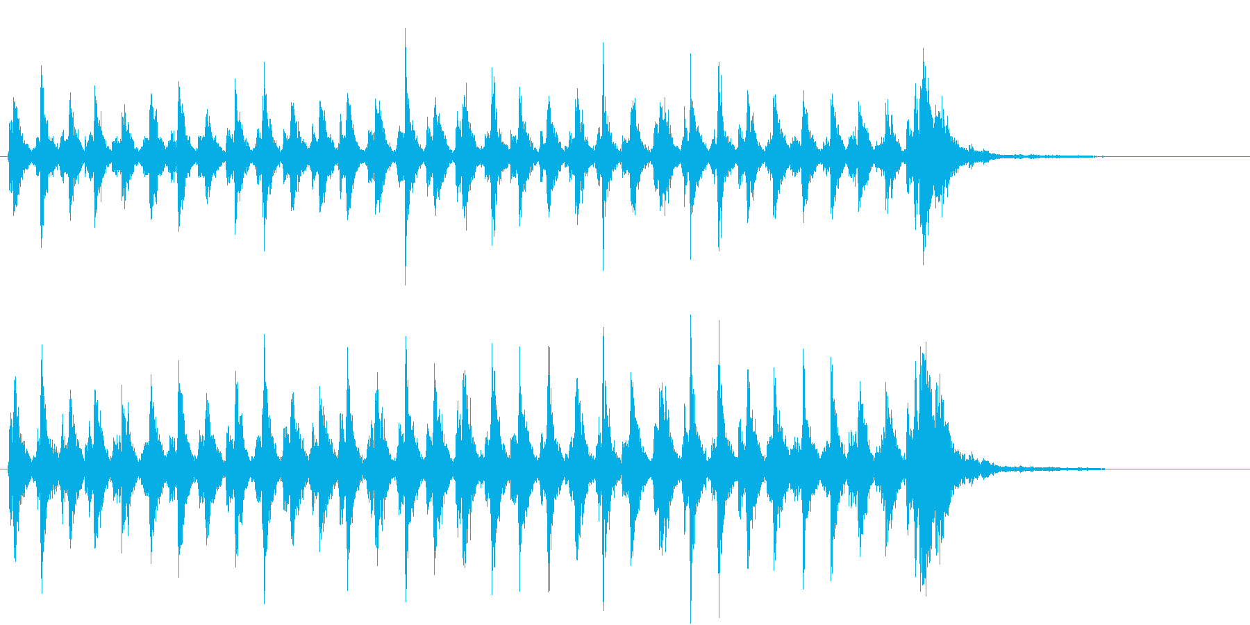 Xmasに最適トナカイベルのループ音06の再生済みの波形