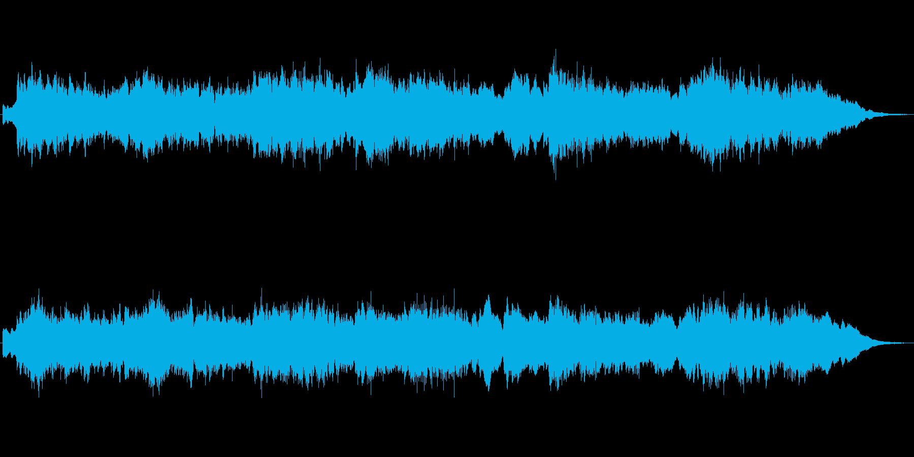 キラキラシンセのメルヘンの世界のジングルの再生済みの波形