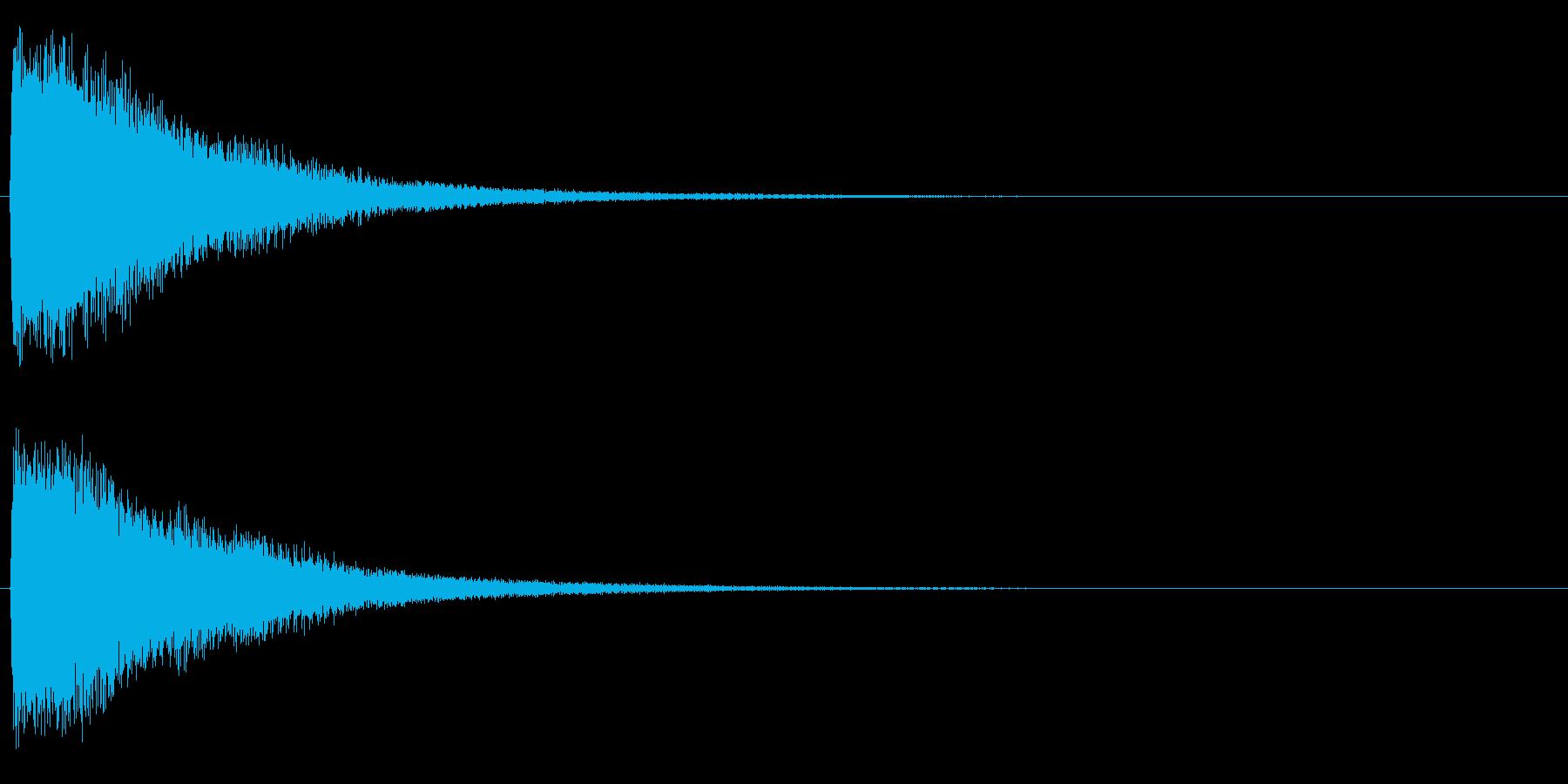 トゥィーンの再生済みの波形