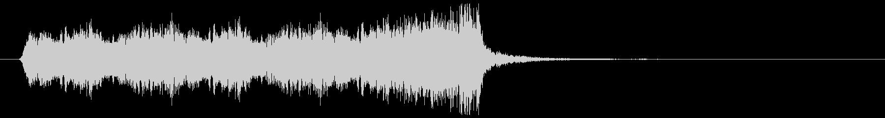 懐かしのアメリカアニメ映画風ジングルの未再生の波形
