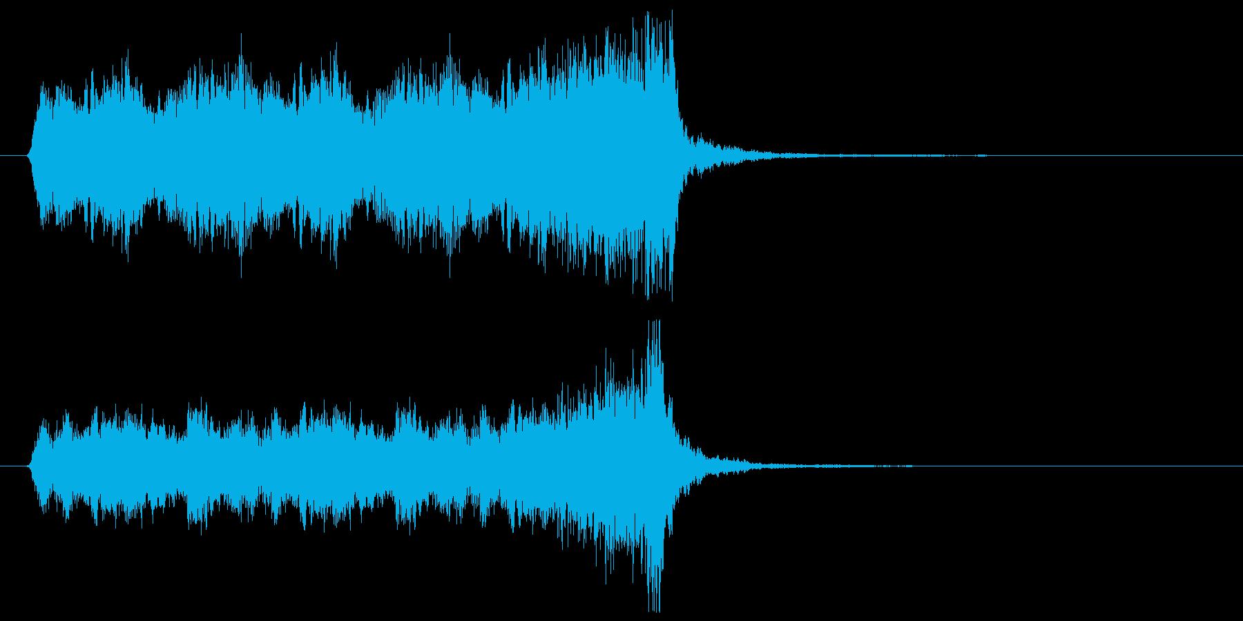 懐かしのアメリカアニメ映画風ジングルの再生済みの波形