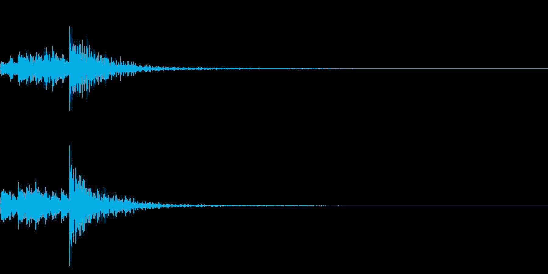和風のピアノと太鼓 タイトル用 スタートの再生済みの波形