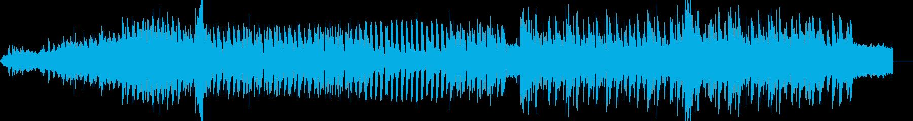 電気的で少し落ち着いた雰囲気の入場曲の再生済みの波形