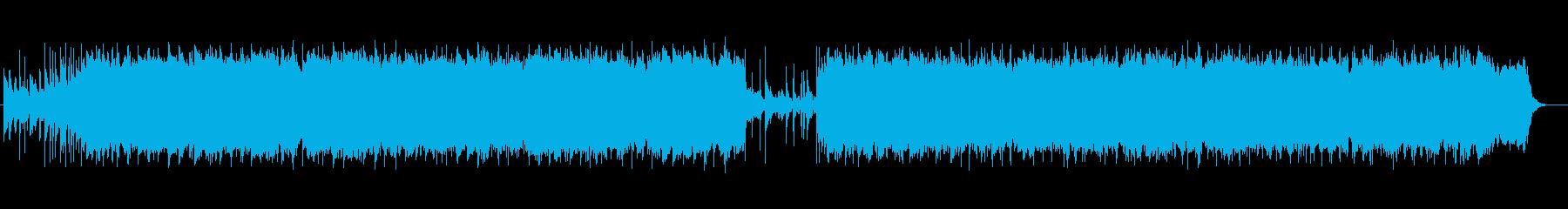 楽しく元気で可愛らしい王道ポップな曲の再生済みの波形