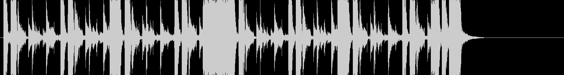 ファンク系のBGMの未再生の波形