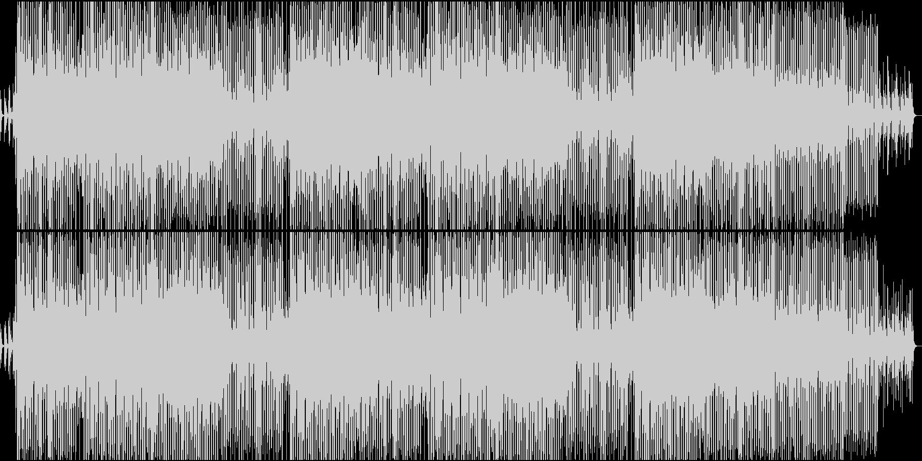 ディスコ風味の明るいポップナンバーの未再生の波形