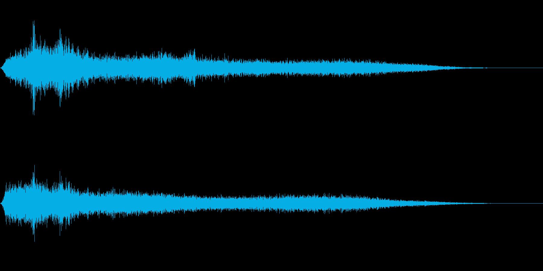 【生録音】 早朝の街 交通 環境音 18の再生済みの波形