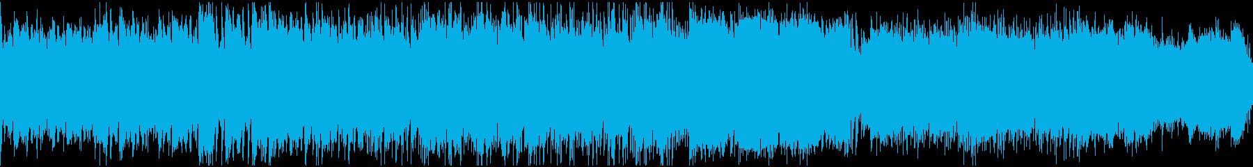 寂しげなフォーク曲(ループ)の再生済みの波形