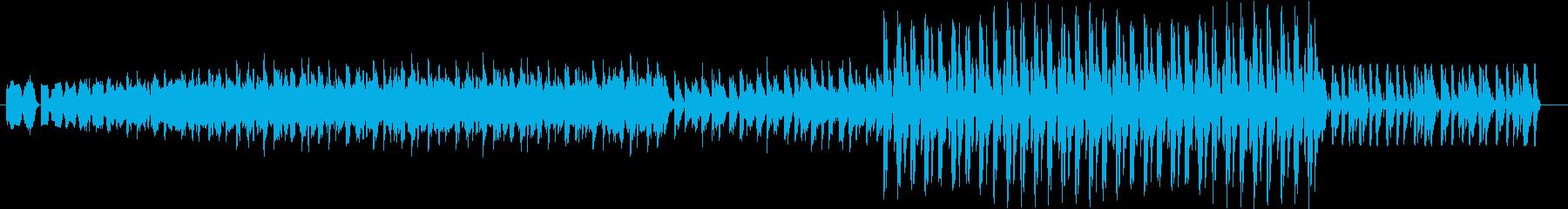 リズム感のあるハードなEDMの再生済みの波形