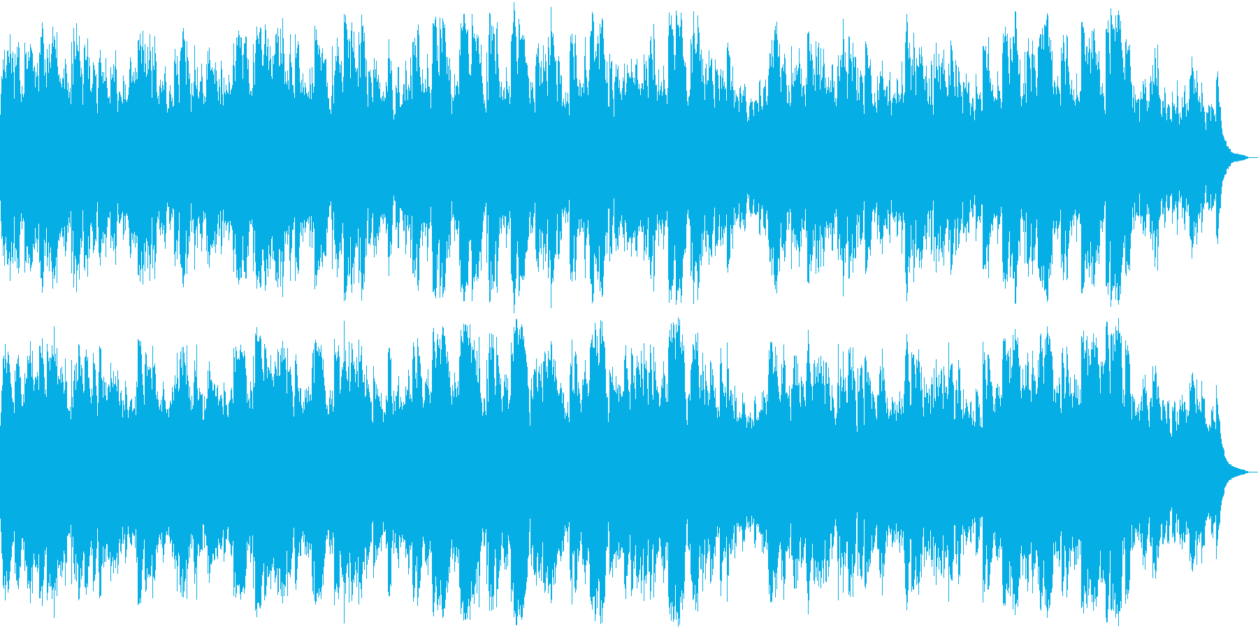 メロディアスなピアノ曲の再生済みの波形
