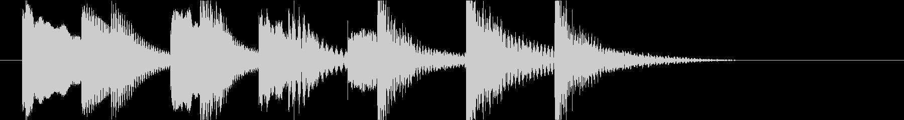コミカルアイキャッチの未再生の波形