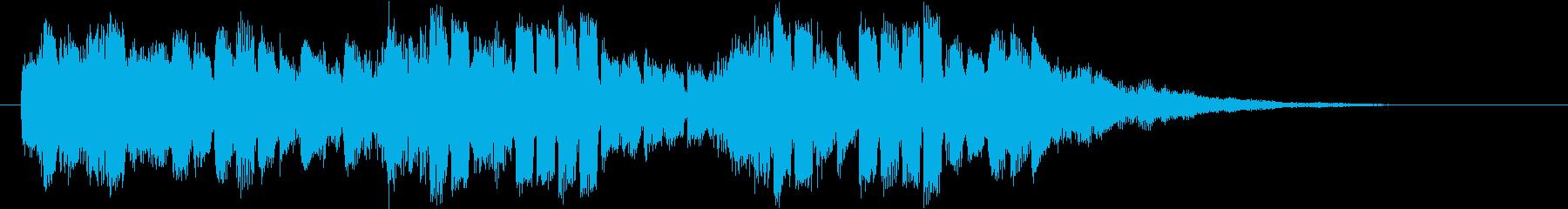 クール&未来的なオープニングロゴの再生済みの波形