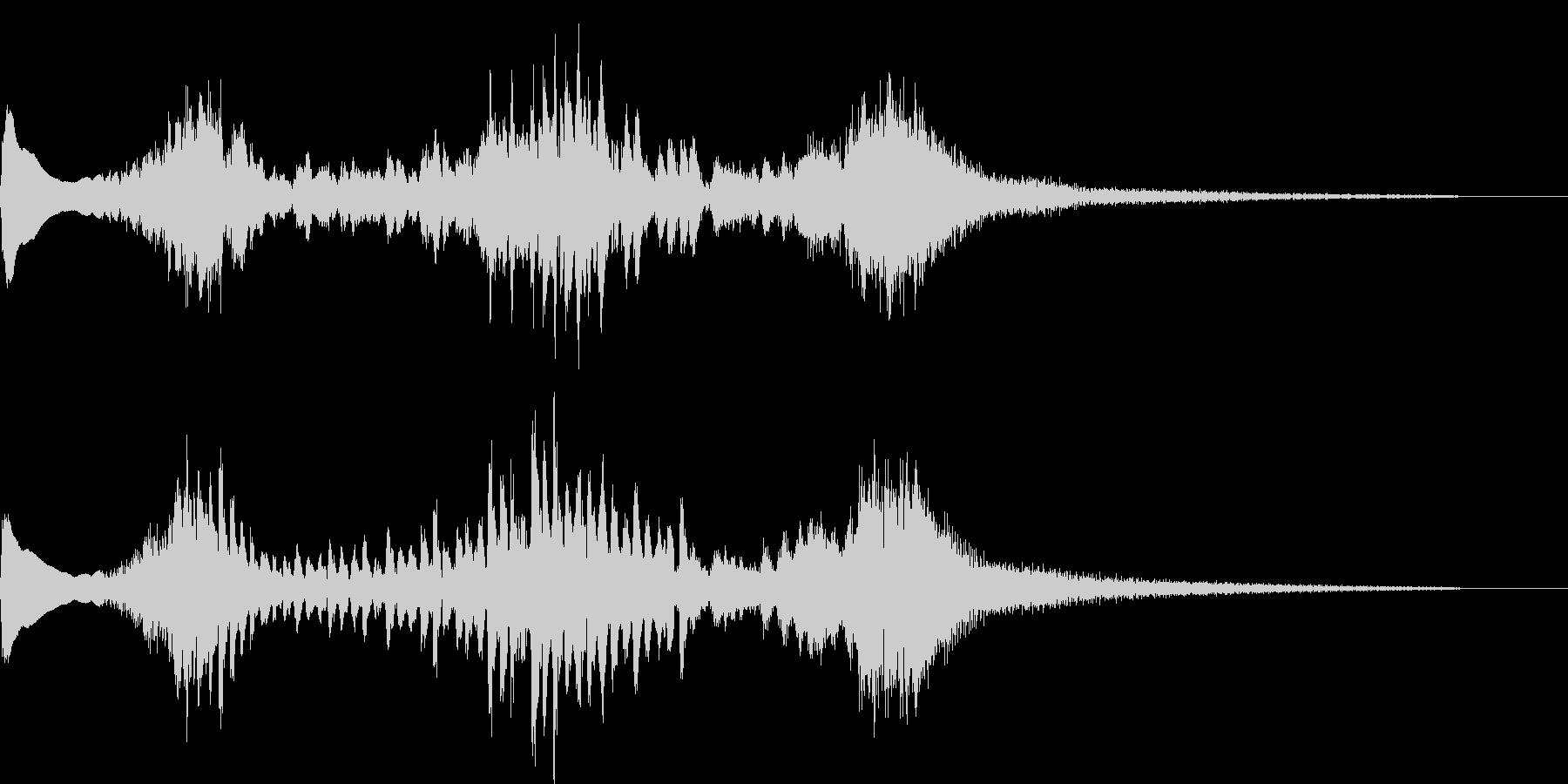 和風な琴のジングルの未再生の波形