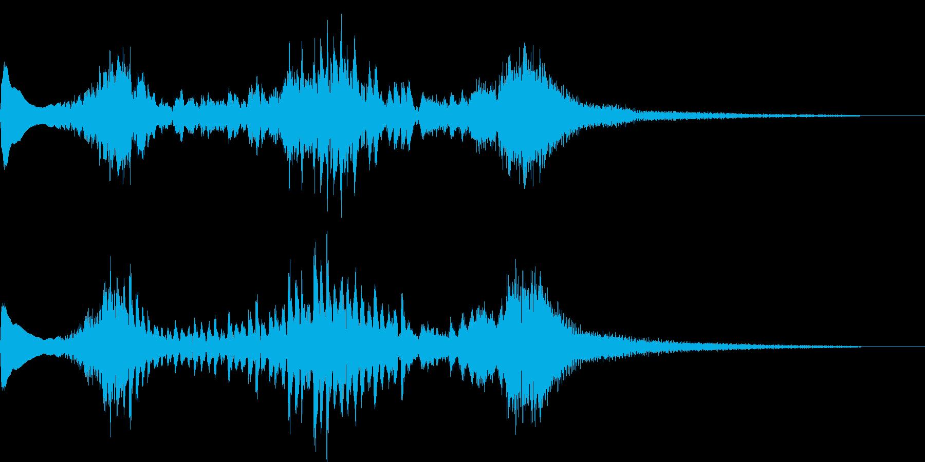 和風な琴のジングルの再生済みの波形