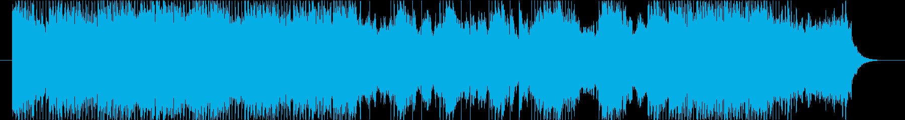 壮大な世界観のファンタジー系BGMの再生済みの波形
