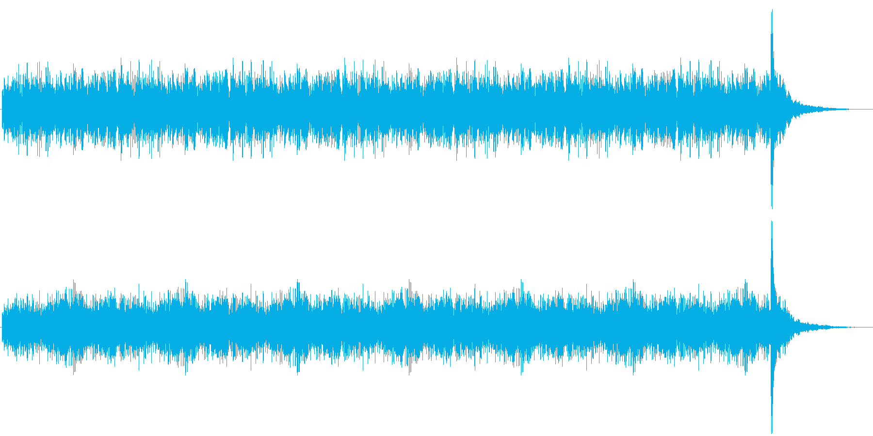 発表シリーズドラムロール30秒の再生済みの波形