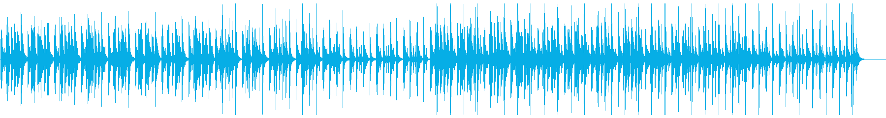 会話シーンのギャグパート系の再生済みの波形