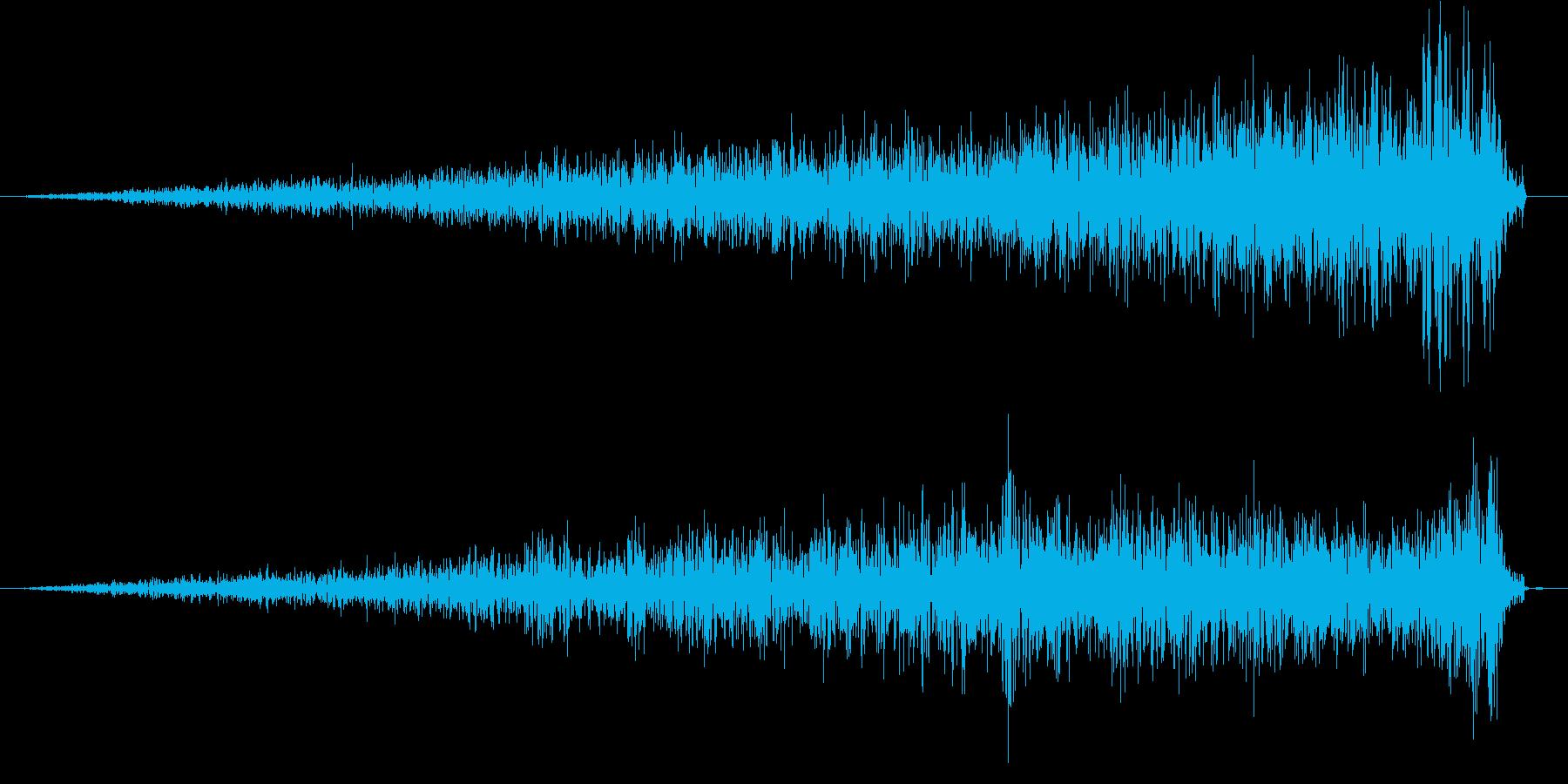 シュッ (ワープの効果音)の再生済みの波形