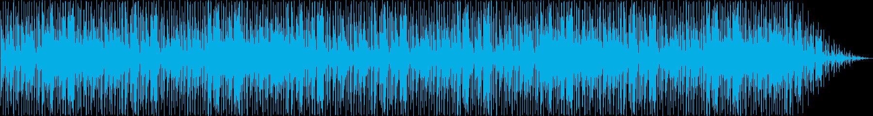 少し幻想的でオーガニックな雰囲気の曲の再生済みの波形