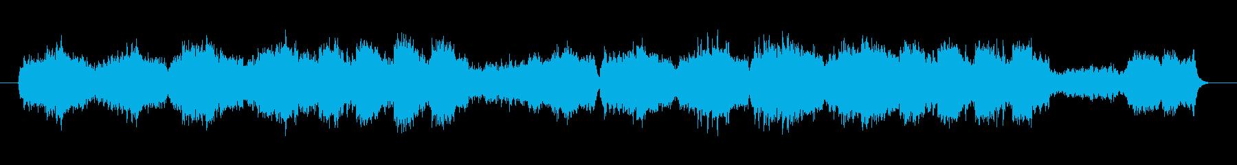 なめらかなリズムで響きのあるメロディーの再生済みの波形