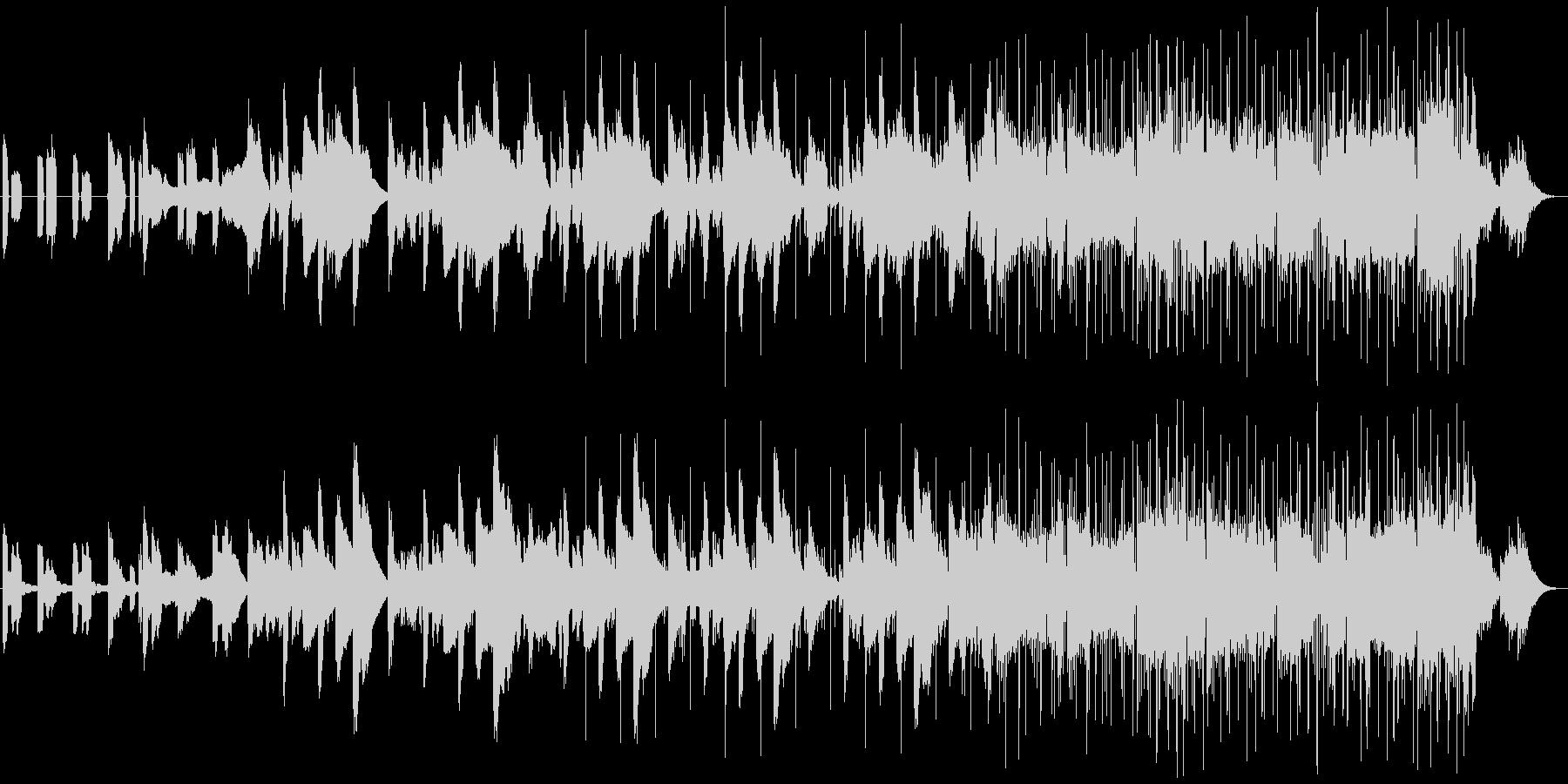 不思議な映像に合うエレクトロニカの未再生の波形