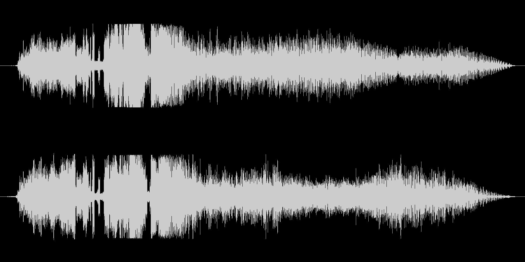 ラジオジングルFM風の未再生の波形