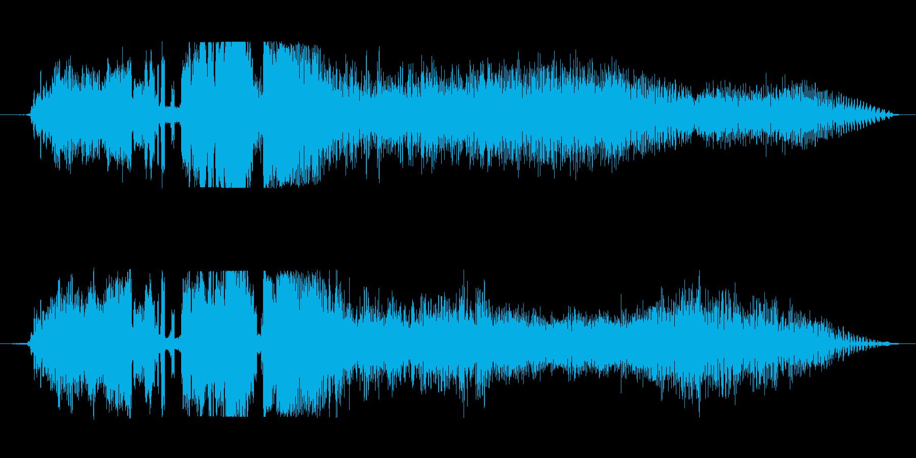ラジオジングルFM風の再生済みの波形