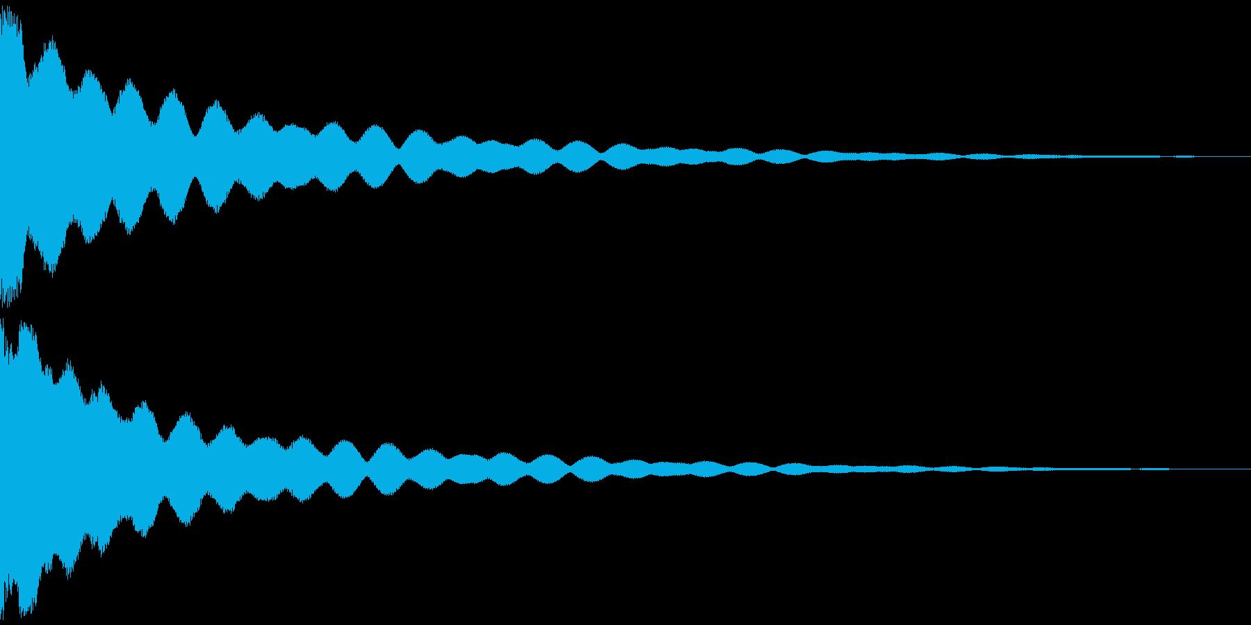 チーン 仏具の鐘、お鈴 ver.Cの再生済みの波形
