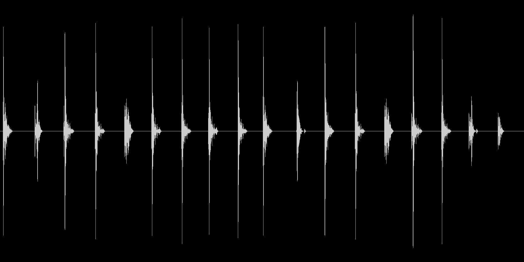 足音 ループ可の未再生の波形