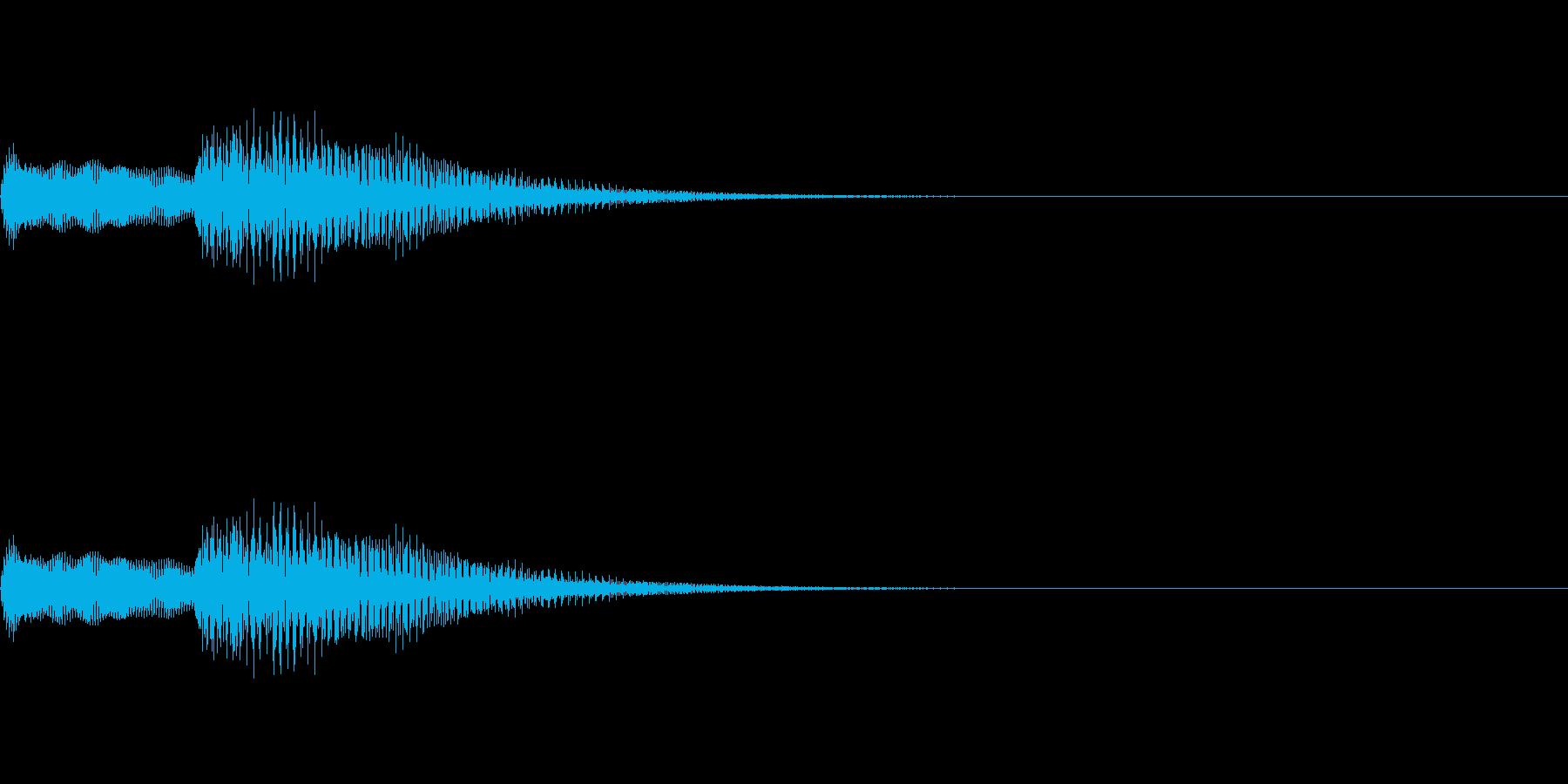 ピアノのエラー音:パソコン音質の再生済みの波形