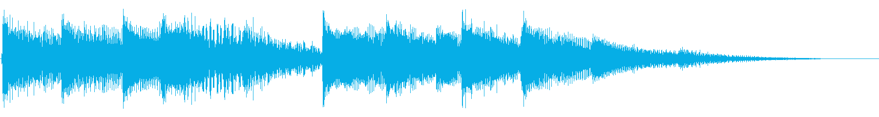 爽やかなエレピのアイキャッチの再生済みの波形