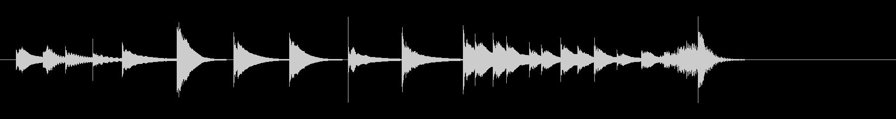 アクセント、音楽、パーカッション木琴音楽の未再生の波形