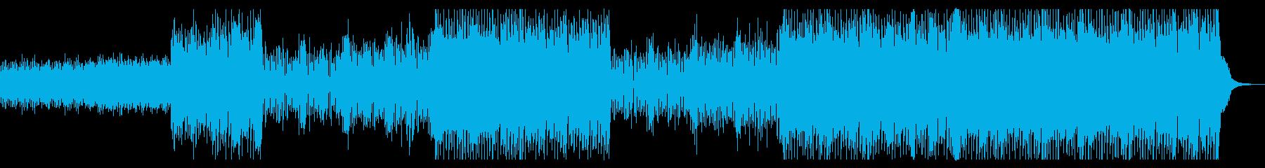 シンセサウンドとドラムの力強いビートの再生済みの波形