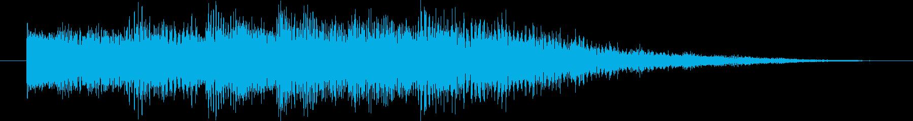 エレピとシンセのフェード系ジングルの再生済みの波形