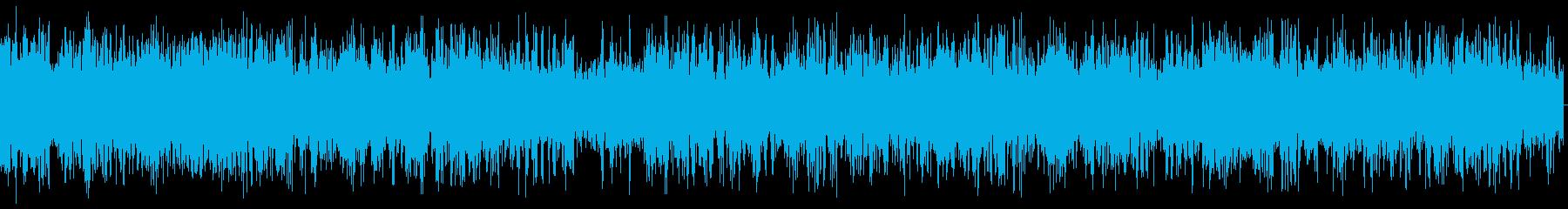 小型ボートの航行中のエンジン音の再生済みの波形