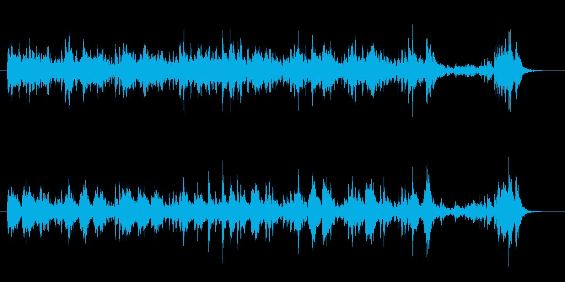 ストリングスを使った軽快な曲の再生済みの波形