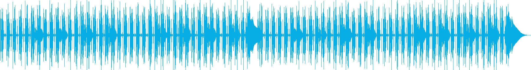 Relaxed and cute everyday pop music's reproduced waveform