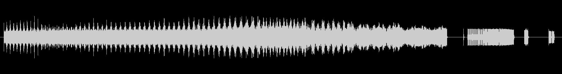 アラームカータイプ6;変調されたハ...の未再生の波形