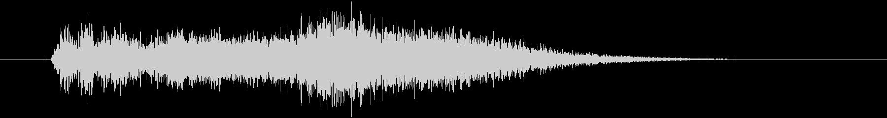 タイトルロゴ(宇宙・SFホラー)の未再生の波形