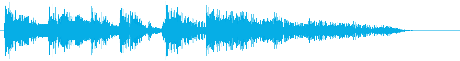 コント、スキットなどの導入ジングルの再生済みの波形