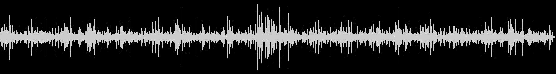 環境音をBGMにしたピアノのヒーリング曲の未再生の波形