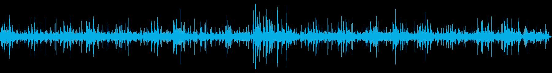 環境音をBGMにしたピアノのヒーリング曲の再生済みの波形