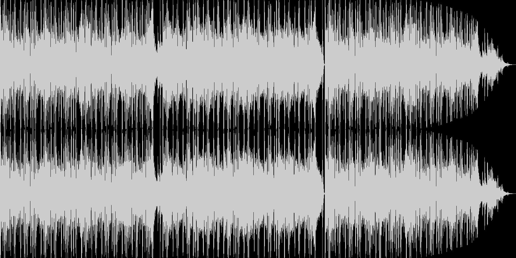 和のテイストを盛り込んだエレクトロBGMの未再生の波形