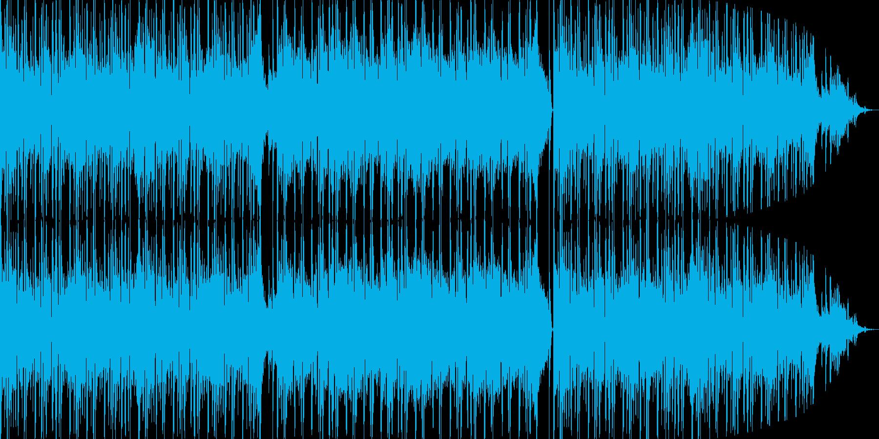 和のテイストを盛り込んだエレクトロBGMの再生済みの波形