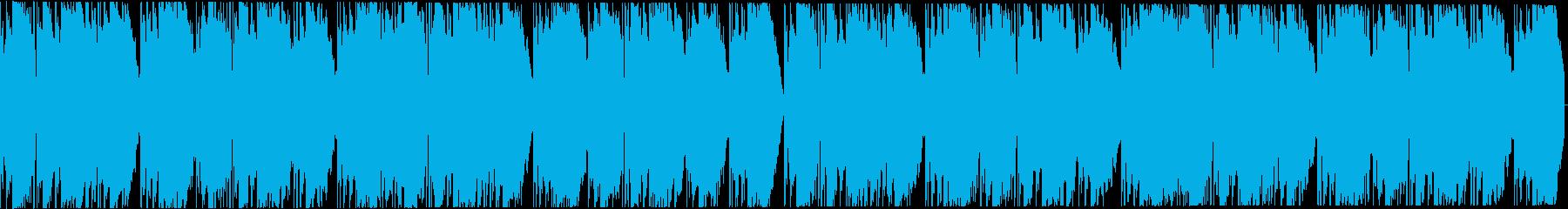 ダークなトラップビート16小節の再生済みの波形