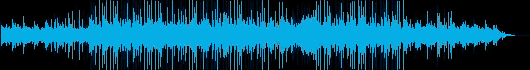 ピアノ、ストリングス、ベース、ドラ...の再生済みの波形