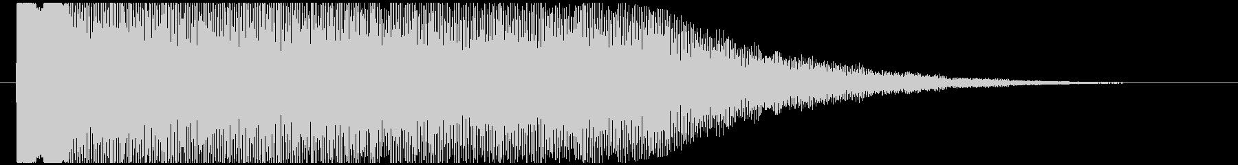 神秘的で透明感のあるアクセント音7の未再生の波形