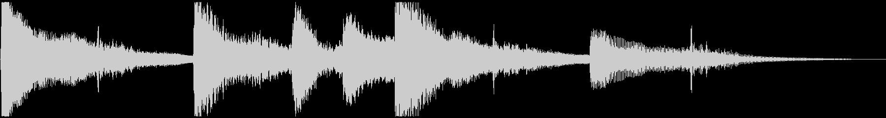 ゆったり ピアノ&サウンドエフェクトの未再生の波形