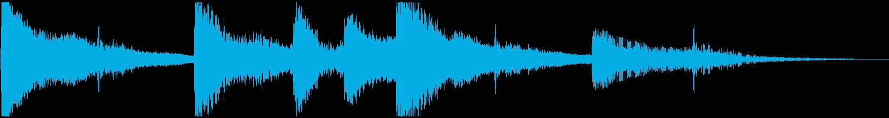 ゆったり ピアノ&サウンドエフェクトの再生済みの波形